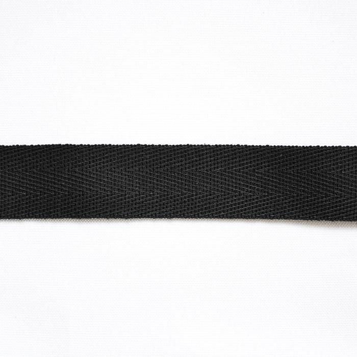 Traka, keper, pamuk, 20mm, 15837-2, crna