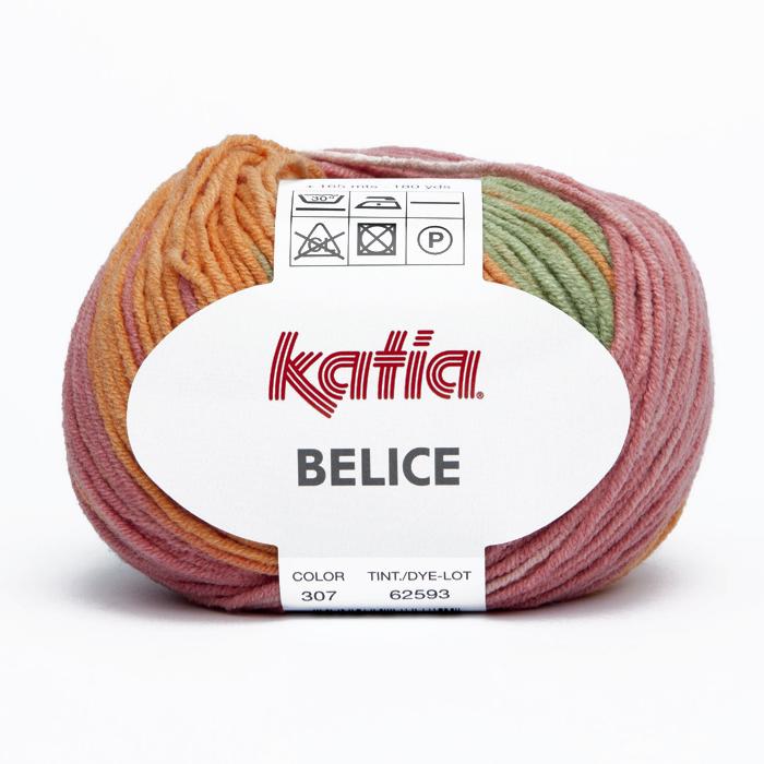 Garn, Belice, 15691-307, orange-rosa