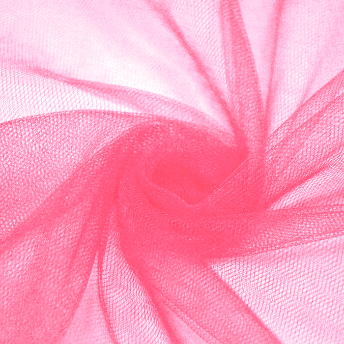 Tulle, fine, 15884-12, fluo pink