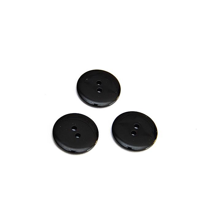 Gumb, klasični, crna, 20 mm, 15952-0014