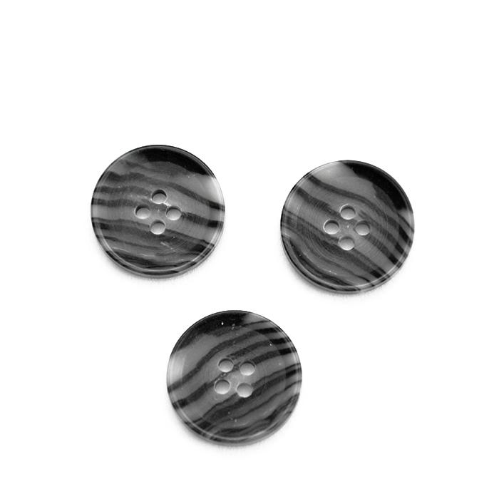 Gumb, kostimski muški, crna, 15 mm, 15952-0016