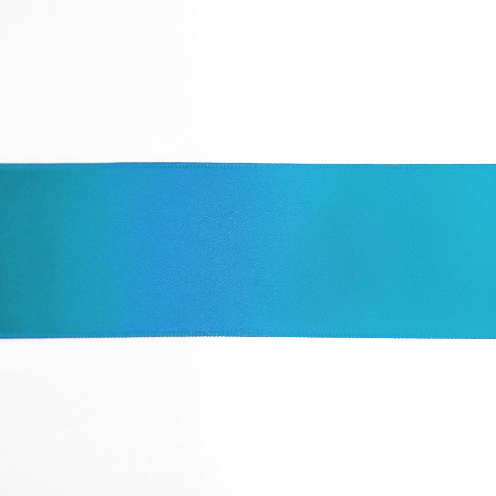 Satin ribbon, 40mm, 15461-1155, turquoise