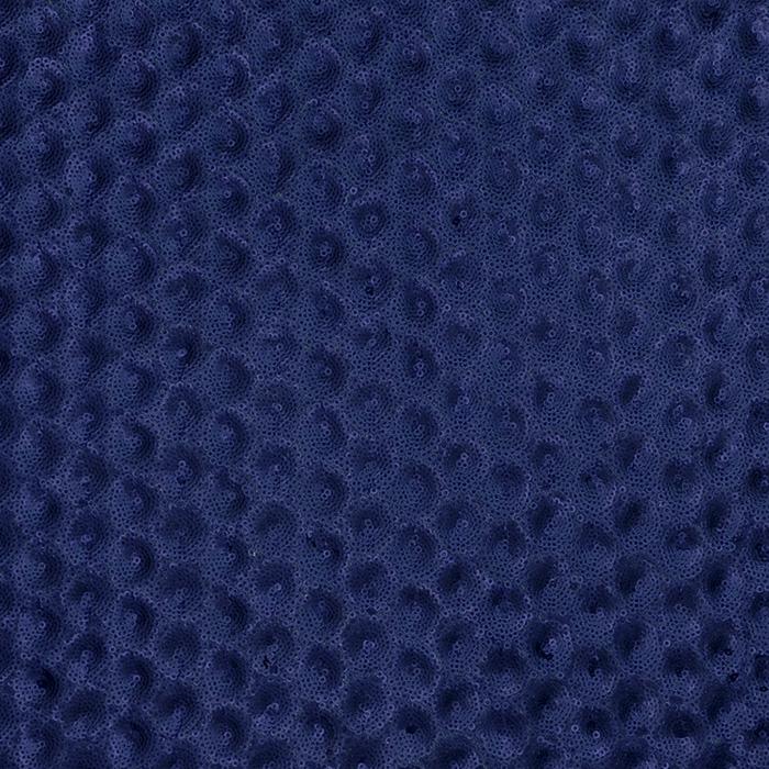 Sequins on mesh, 16022-846, dark blue