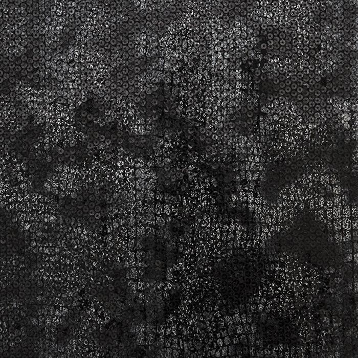 Pailletten auf Wirkware, 16070-069, schwarz