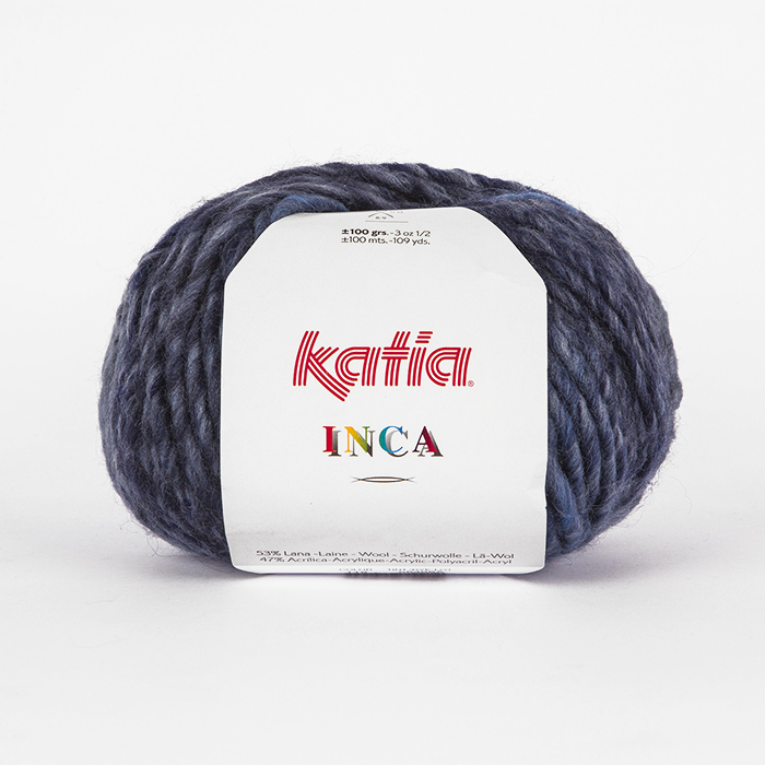 Wool, Inca, 16093-118, blue