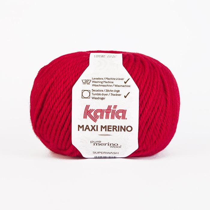 Wolle, Maxi Merino, 16094-4, rot