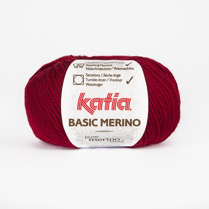 Wool, Basic merino, 15041-22, red