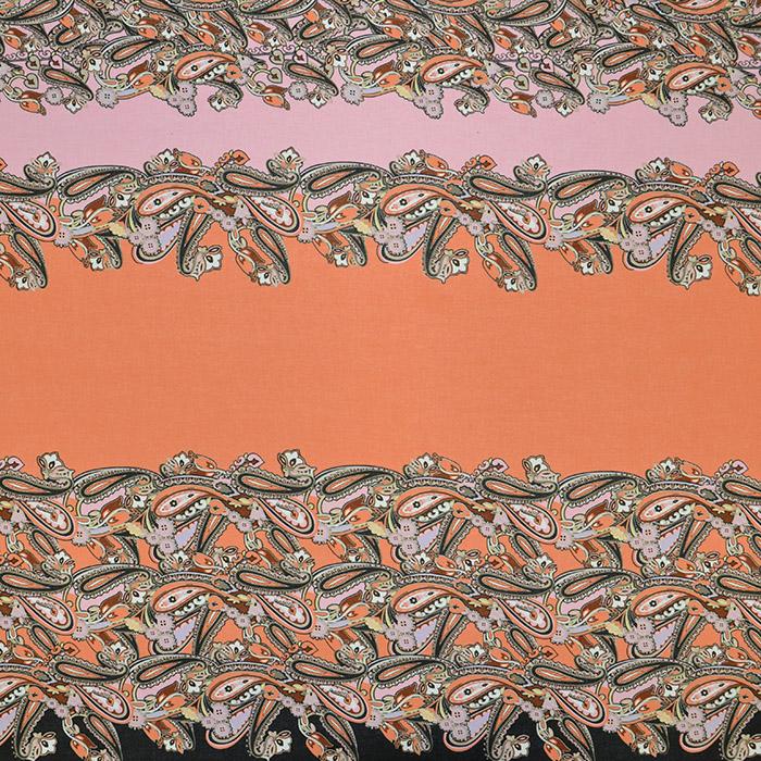 Bombaž, tanek, ornamentni, 13207-1