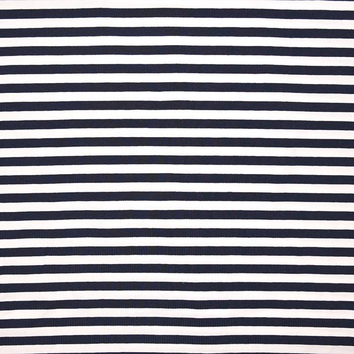 Jersey, Baumwolle, Streifen, 16153-008, blau