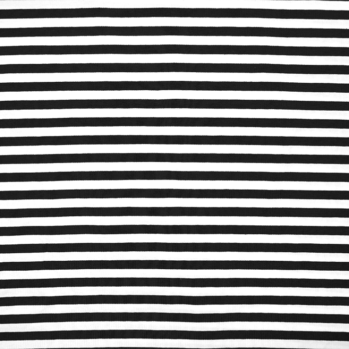 Jersey, Baumwolle, Streifen, 16153-069, schwarz
