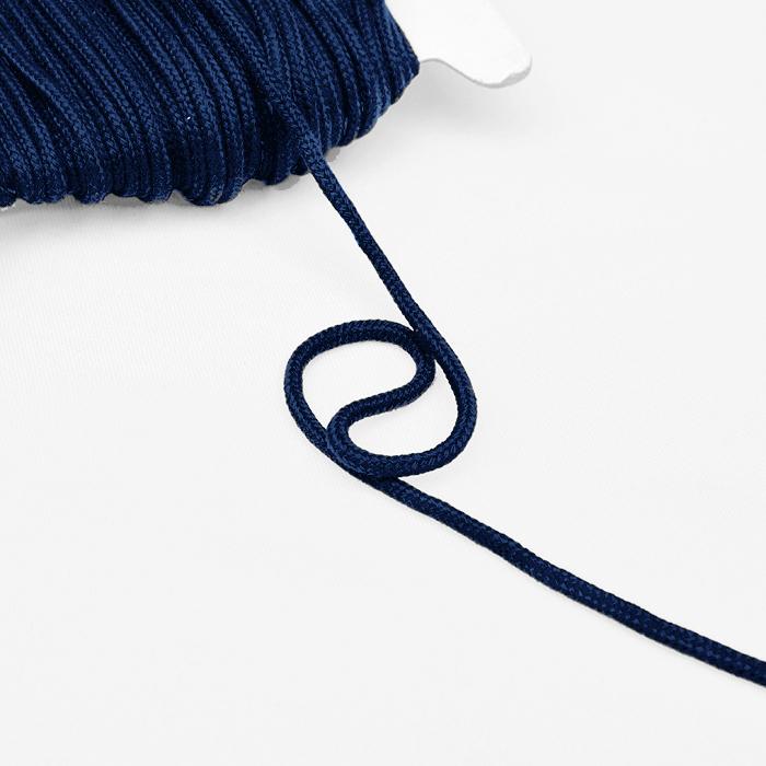 Cord, cotton, 4mm, 16189-10471, blue