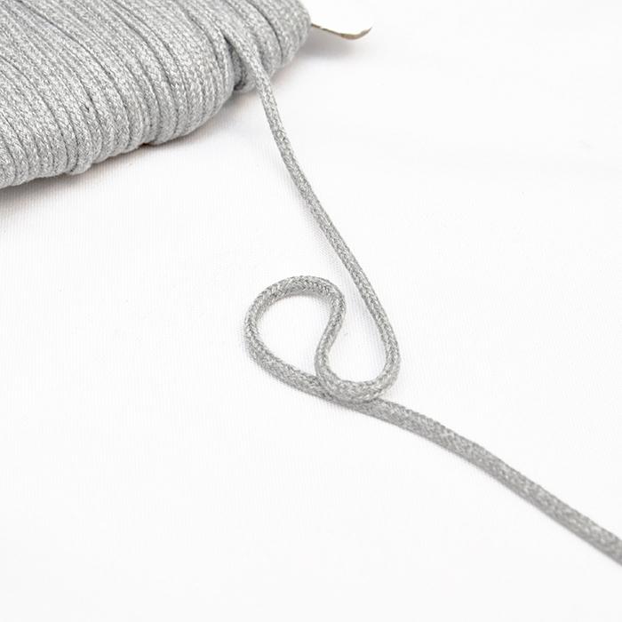 Uzica, pamučna, 4mm, 16189-10470, siva melanž