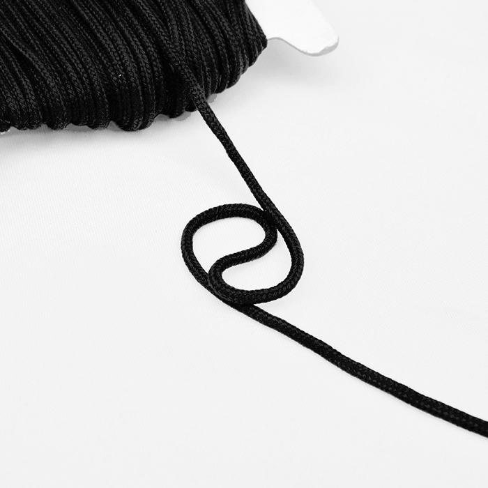 Shnur, Baumwolle, 4 mm, 16189-10468, schwarz