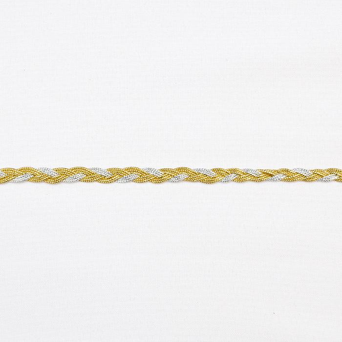 Traka, pletenica, 16195-10671, srebrna zlatna