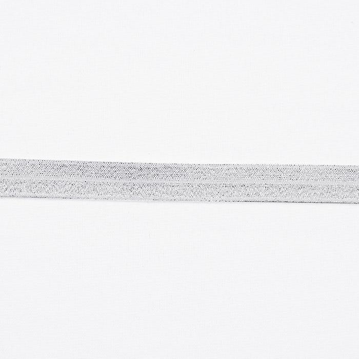 Elastika, obrobna glitter, 16200-41081, srebrna