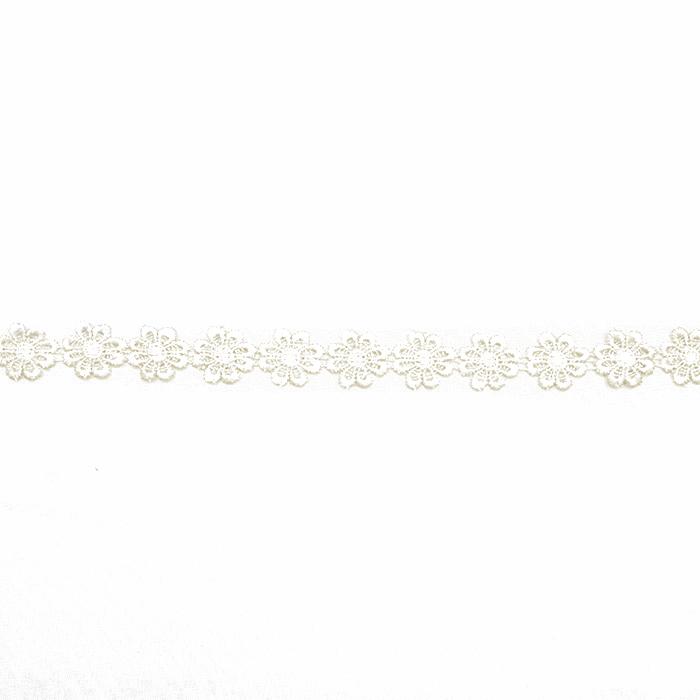 Trim, flowers, 16202-40984, cream