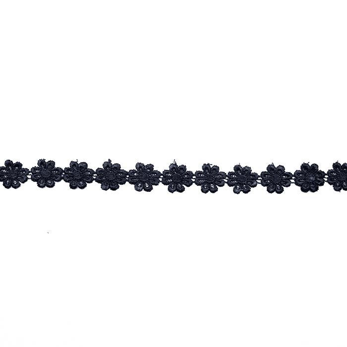 Band, Blumen, 16202-40994, schwarz