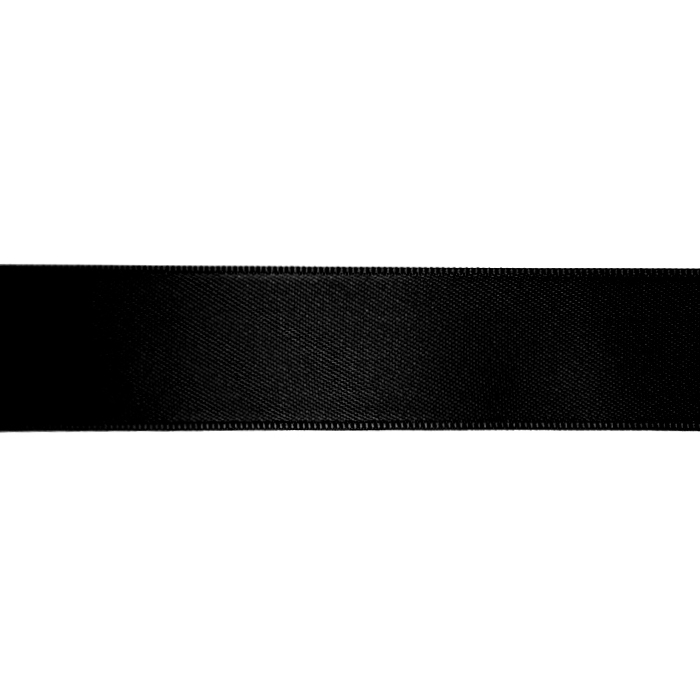 Satin ribbon, 25mm, 15460-2, black