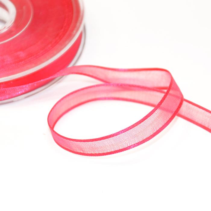 Traka, organdi, 10mm, 00251-019, roza