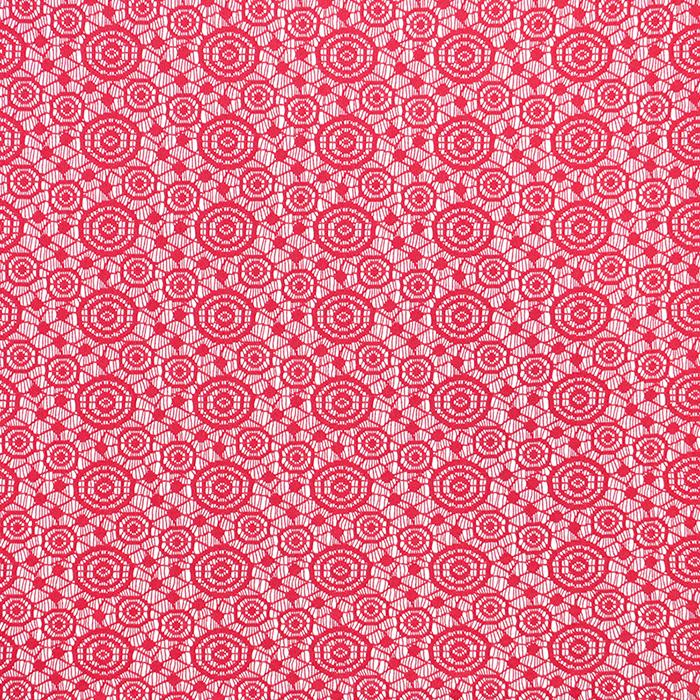 Čipka, geometrijska, krugovi, 16418-404, koraljna