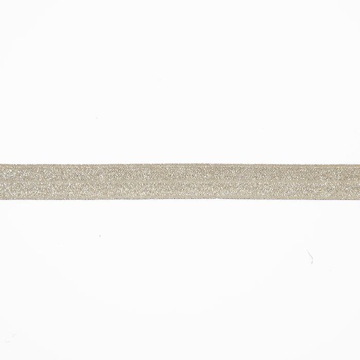 Gumielastika, obrubna, glitter, 16200-41090, bež