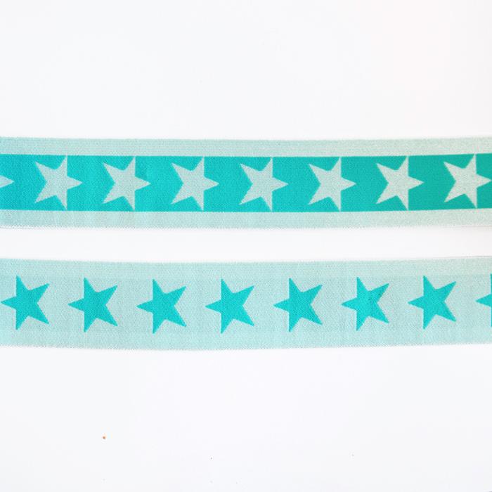 Elastic strip, 40mm, stars, 16515-42506, mint