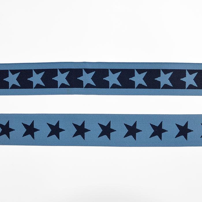 Elastikband, 40 mm, Sterne, 16515-42491, blau
