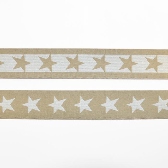 Elastika, 40mm, zvezde, 16515-42512, bež
