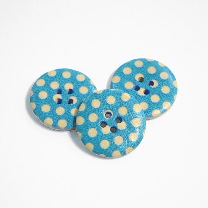 Button, wooden, print, 30 mm 16518-42241