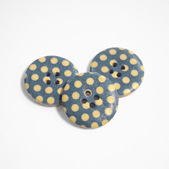 Button, wooden, print, 30 mm 16518-42238