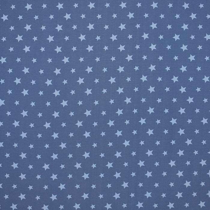 Jersey, bombaž, zvezde, 16365-006, modra
