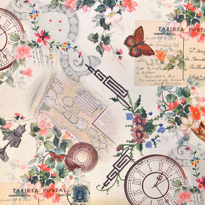 Dekostoff, Digitaldruck, romantisch, 16561-015