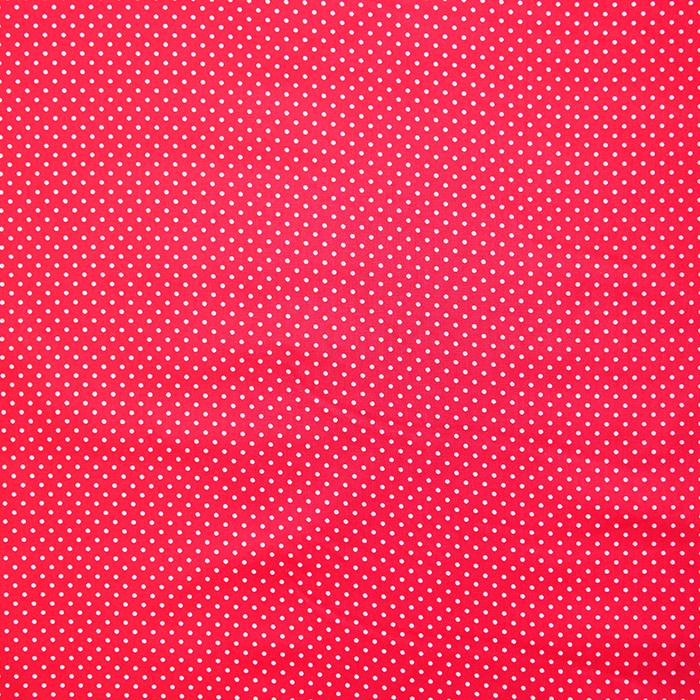 Bombaž, impregniran, pikice, 16629-015, rdeča