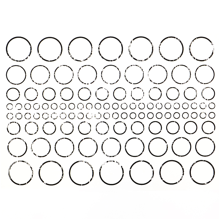 Preslikač, prazan krug, 16725-2, crna