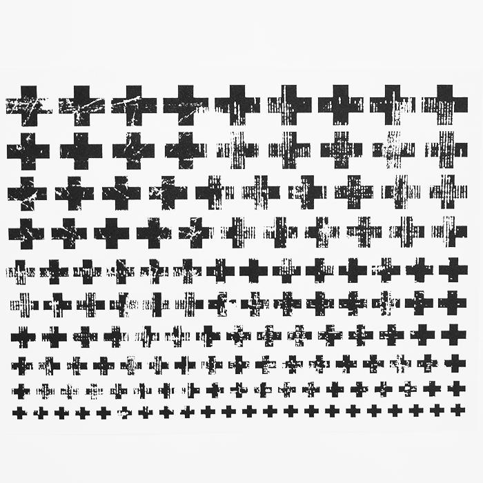 Transfer picture, crosses, 16726-2, black