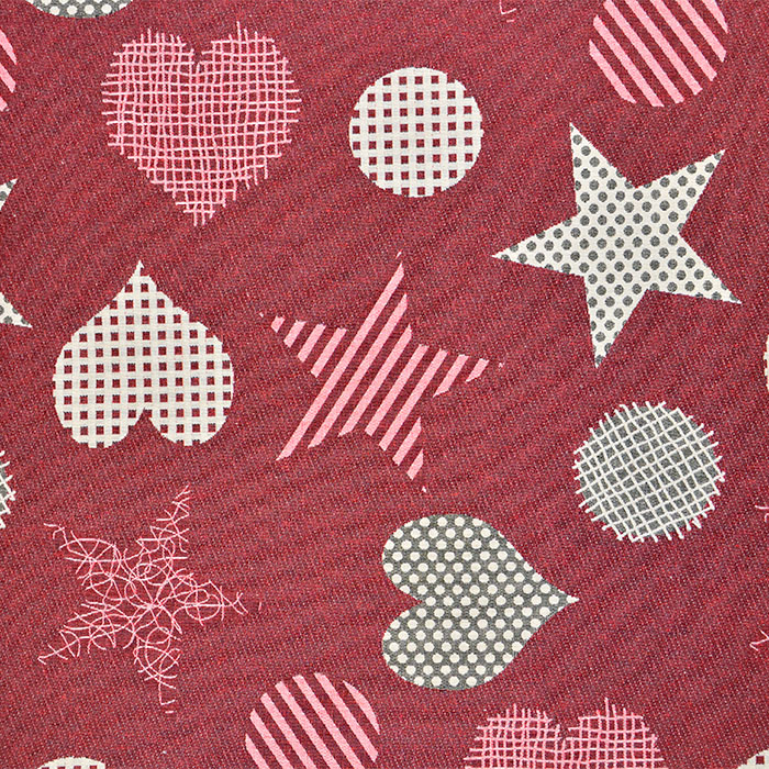 Deco jacquard, bilateral, 16735-2, red