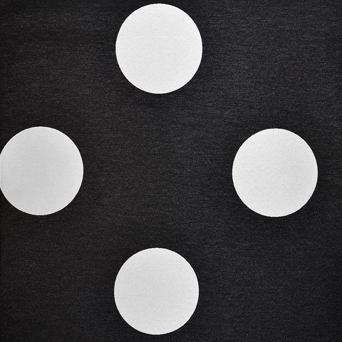 Deko žakard, točkice velike, 16737-1, crna