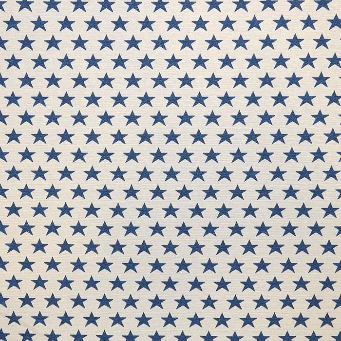 Deco jacquard, stars, 16745-3, blue