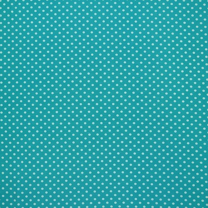 Jersey, pamuk, točkice, 16363-022, tirkiz