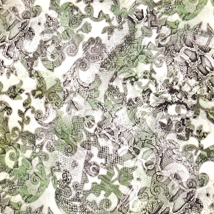 Svila, saten krep, cvetlični, 16777-14