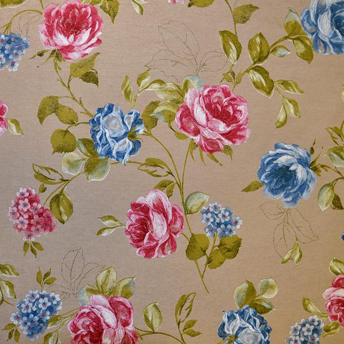 Deko, tisk, cvetlični, 16881-48