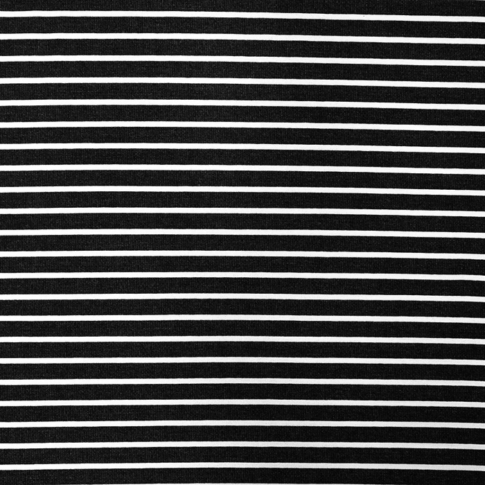 Triko materijal, prugice, 15633-269, crna