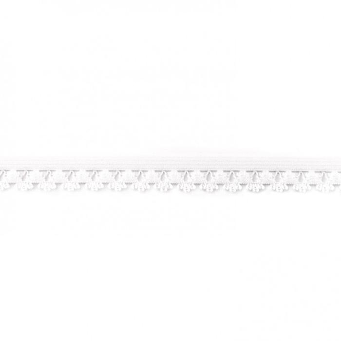 Elastika z volančki, 16198-30102, bela