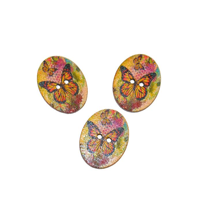 Gumb, okrasni, metulj, 17274-42254