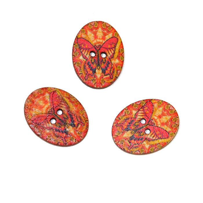 Gumb, okrasni, metulj, 17274-42256