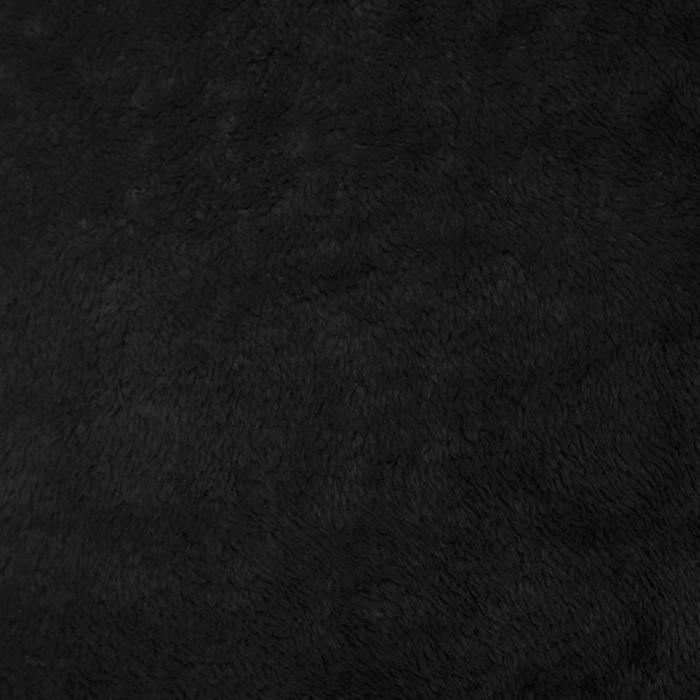 Velur coral, kosmaten, 17395-6, črna
