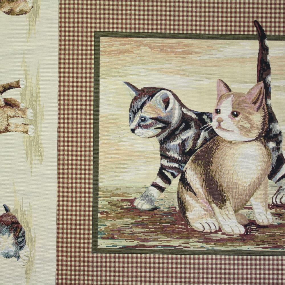 Deco jacquard, cats, 5427