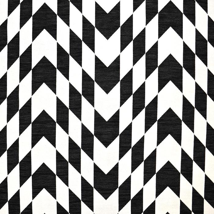Žakard, geometrijski, 17479-15, crno bijela