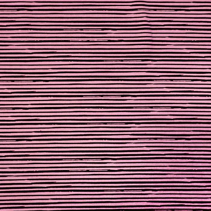Jersey, bombaž, črte, 17527-013, roza