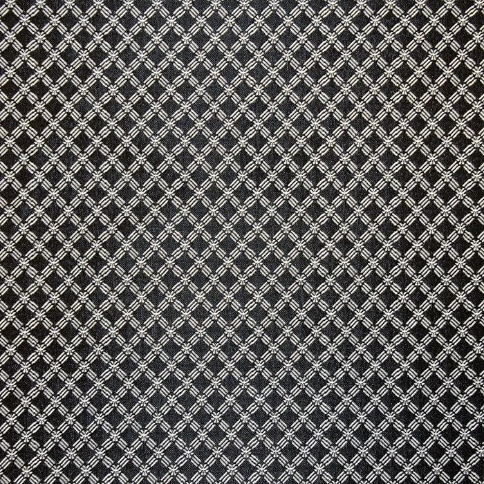 Žakard, obojestranski, karo, 17603-169, črno bela